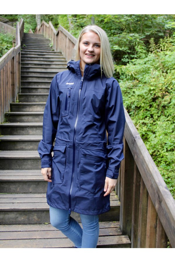 Bergans Плащ S19 Hella Lady Coat Navy/Alu 5094