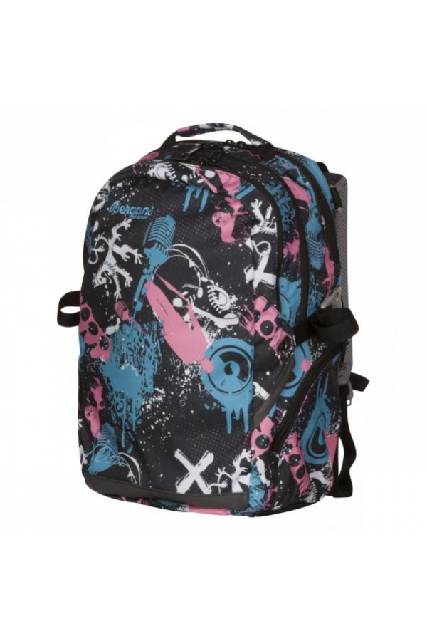 Bergans Рюкзак 28L XO London Calling, Black/LightMagentaPink/LightBlue