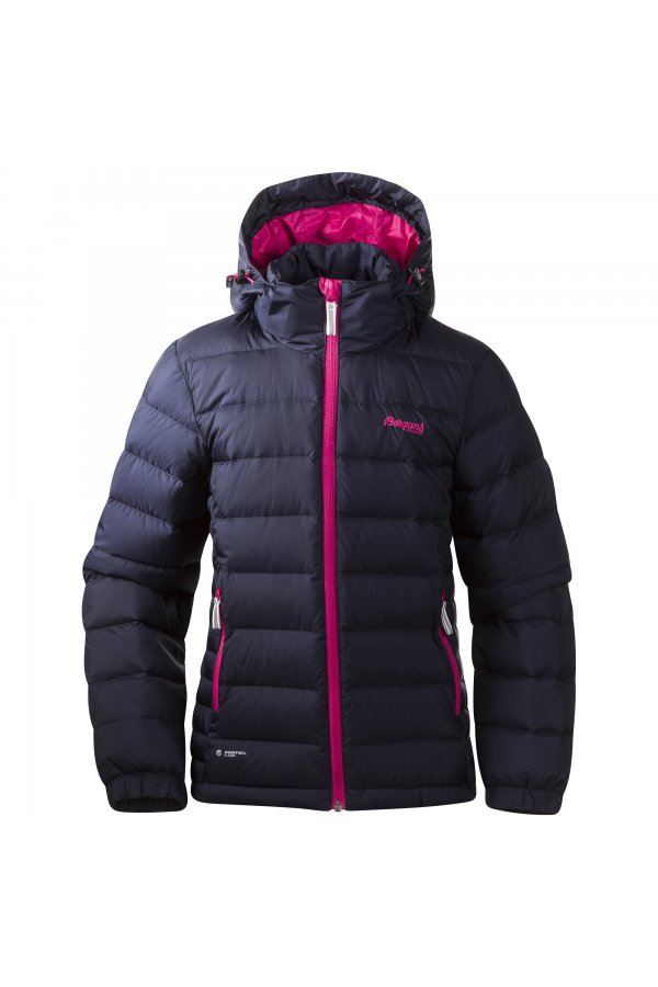 Bergans Куртка DOWN YOUTH GIRL W16 Navy/HotPink/White 7623
