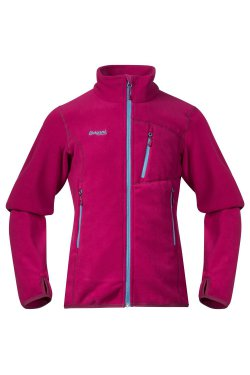 Bergans Кофта W18 Runde Youth Girl Jkt Cerise/Glacier/DustyCerise 6949