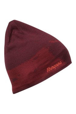 Bergans Шапка W19 Ski Beanie Wine Mel/Bordeaux/Lounge 7711