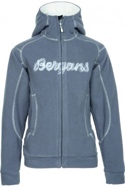 Bergans Кофта BRYGGEN YOUTH JKT SolidGrey/Cream 6360